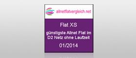 Flat XS - Günstigste All-net Flat im D2 Netz
