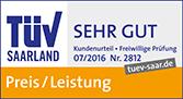 TÜV Saarland - Kundenurteil sehr gut