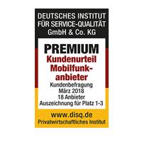 disq - Premium Kundenurteil Mobilfunkanbieter 2018