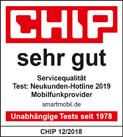 CHIP - Neukunden-Hotline sehr gut