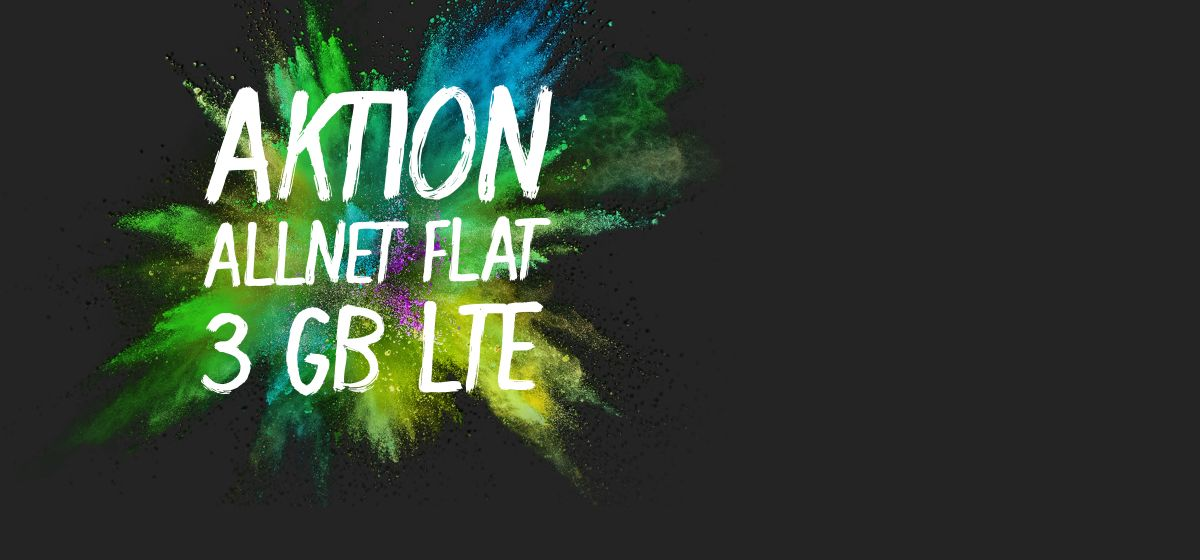 Aktion: Allnet-Flat 3 GB LTE