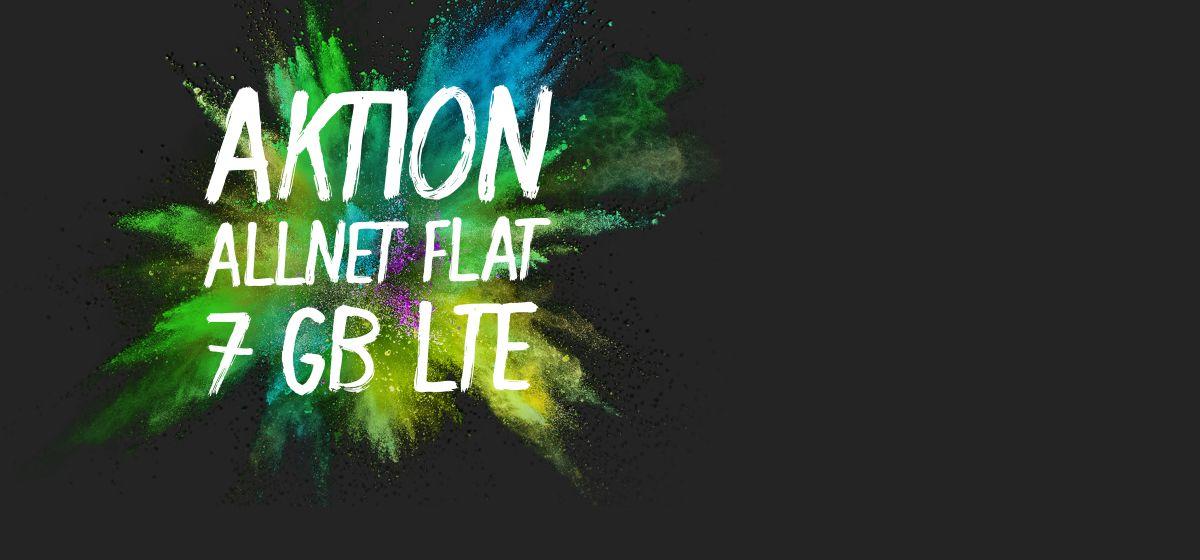 Aktion: Allnet-Flat 7 GB LTE