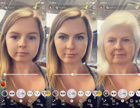 Altern mit Snapchat