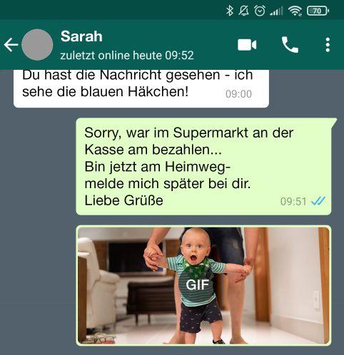Eigene GIFs über WhatsApp anfertigen