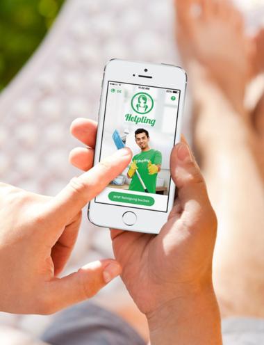 Frühjahrsputz mit Helpling – einer digitalen App fürs Smartphone