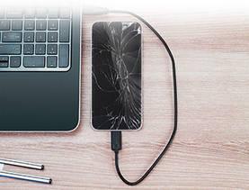 smartphone with spiderapp