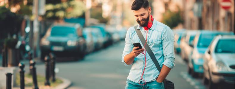 Text-, Sprach- und Videonachrichten von unterwegs