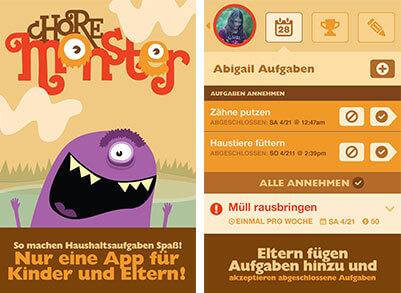 Familien App, die Pflicht und Spiel vereint