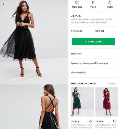 ASOS – Mode App mit Suche für besondere Anlässe
