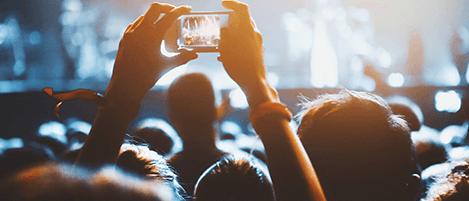 Smartphone Dauerfilmen auf Konzerten nervt