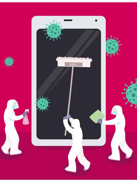 Handy desinfizieren: Richtige Reinigung von iPhones und Android-Geräten