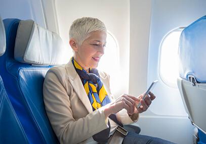 Internet und WLAN im Flugzeug