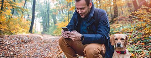 Haustier Apps von überall aus und unterwegs nutzen