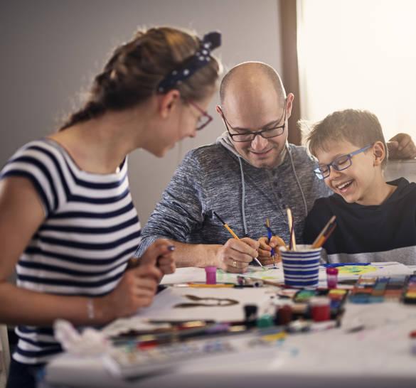 Machen Sie das Lernen zu einer Familienaktivität