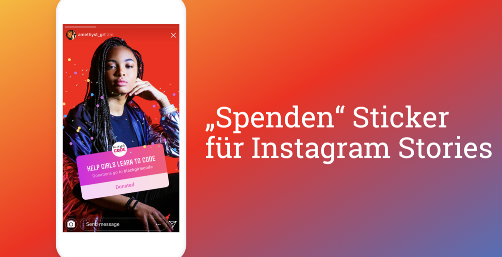 Spendenbuttons in Live-Videos bei instagram reels
