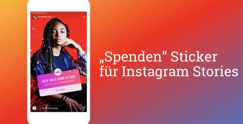Spendenbuttons in Live-Videos bei instagram reels