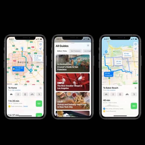 Erweiterte Apple-Maps-Fahrradanweisungen und Guides