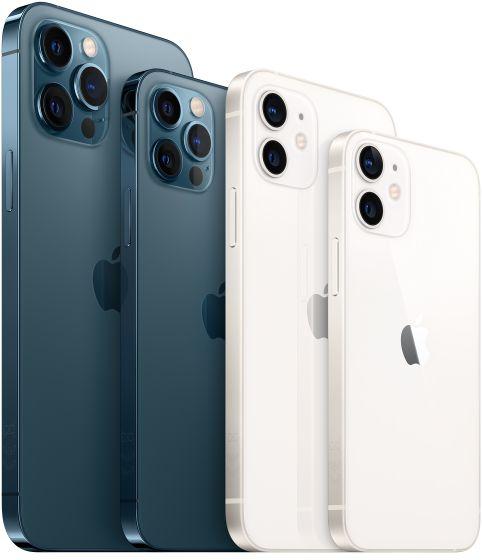 Die vier Modelle der iPhone 12-Reihe