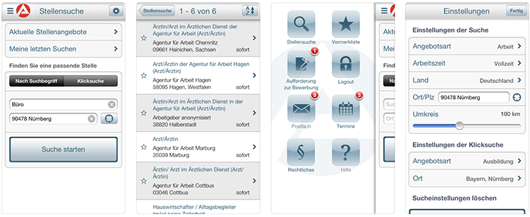 Arbeitsagentur Jobbörse App