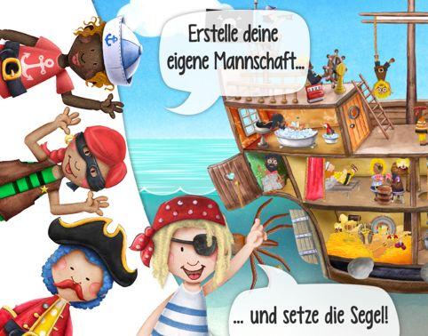 Meine Piraten Wimmelapp – interaktives Piraten-Abenteuer für Nachwuchs-Seeräuber