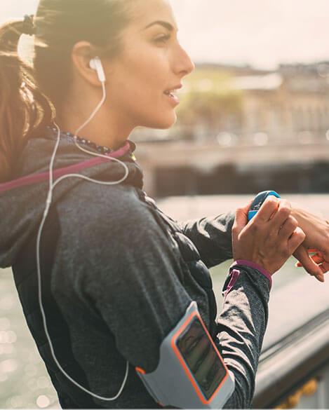 Joggen, Laufen und Fitness Tracker