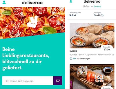 bestellen bei lokalen Food-Hotspots