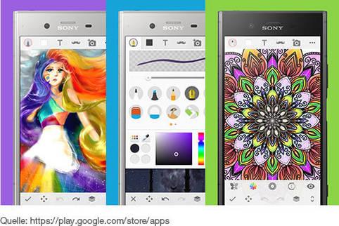 Mal- und Zeichnen-App für kreative Skizzen und tolle Bilder