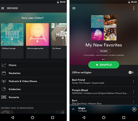 Spotify: Musik-Streaming-App
