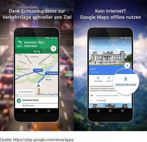 Offboard-App Google Maps