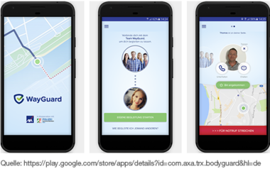 WayGuard - App Schutz für den Heimweg