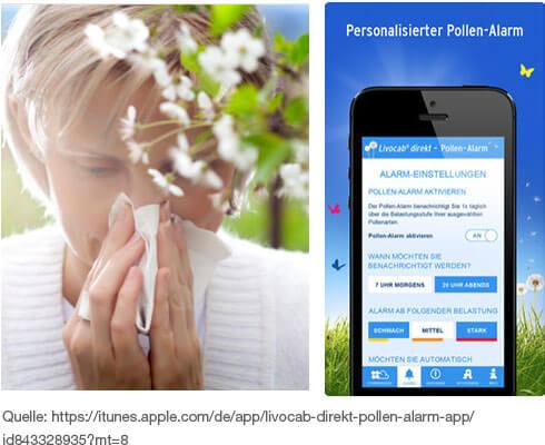 7 Tage Pollen-Prognose und Allergie-Ratgeber