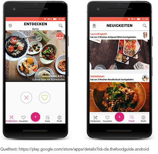 Foodguide App - Essensauswahl nach dem Tinder-Prinzip
