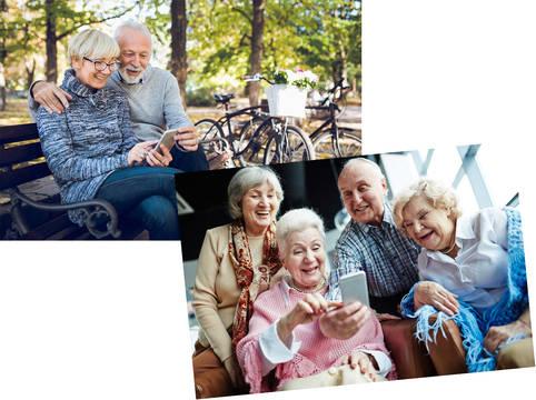 Apps zur Kommunikation via Seniorenhandy