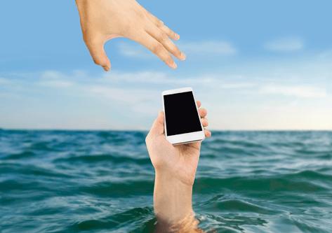 Smartphone Wasserschaden