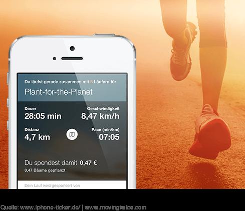 MovingTwice App - joggend die Welt retten