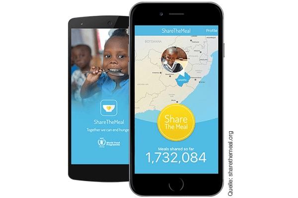 Spenden App: ShareTheMeal App