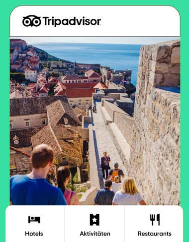 TripAdvisor – Anhand von Nutzerbewertungen zu den besten Plätzen