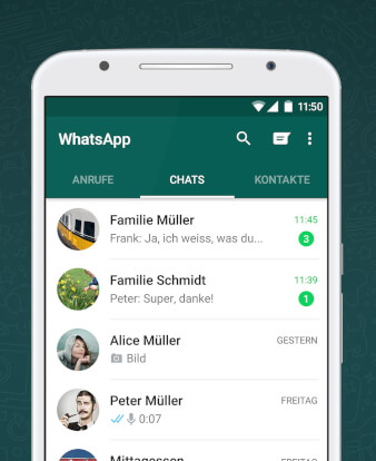 WhatsApp – Rang eins der beliebtesten & besten Android Apps