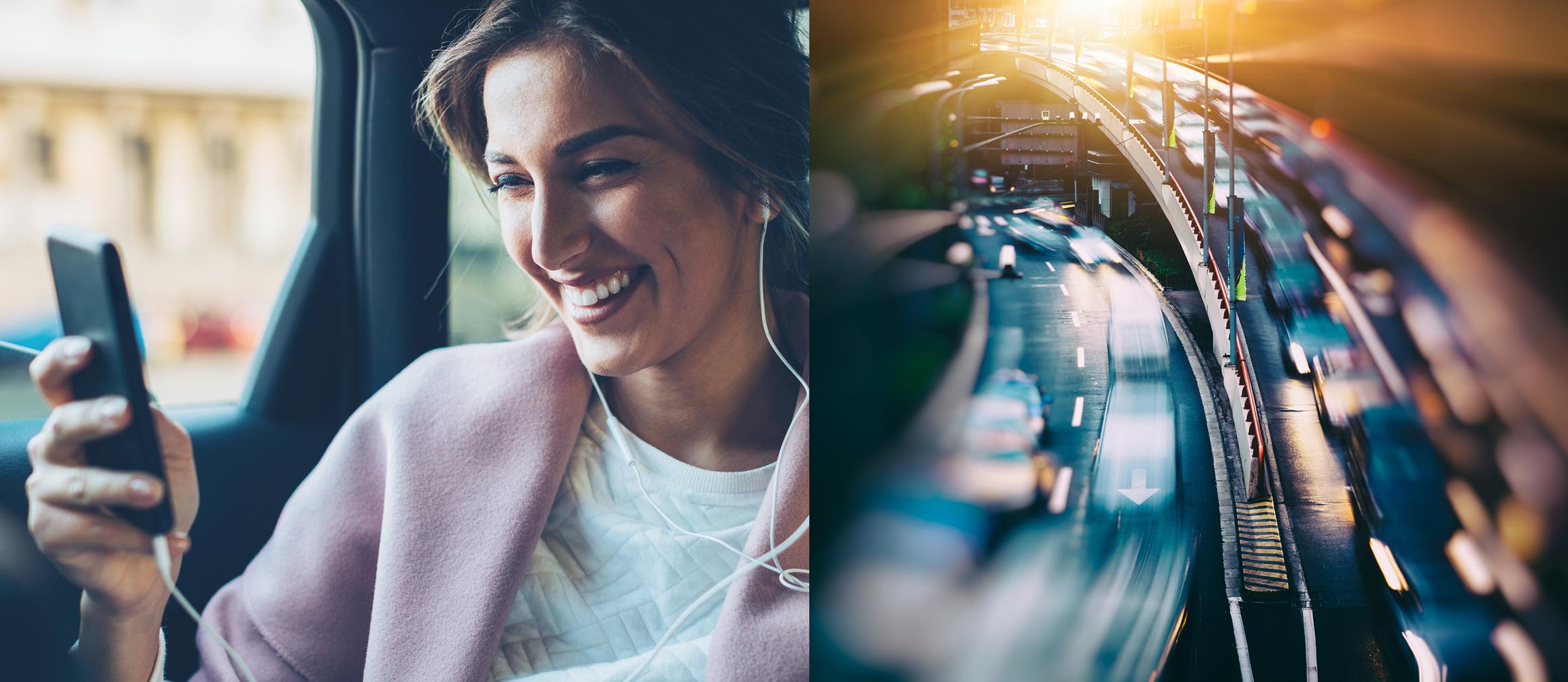 Auto-(Mobil) - Smartphone im Auto