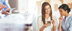 Smartphone-Nutzung im Büro