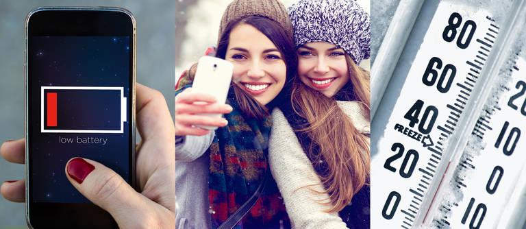 Smartphones und Kälte