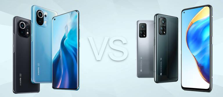 Xiaomi Mi 11 5G vs. Xiaomi Mi 10T Pro