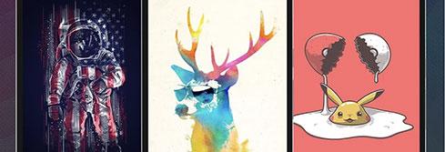 ungewöhnliche und kreative Wallpaper-Sammlung