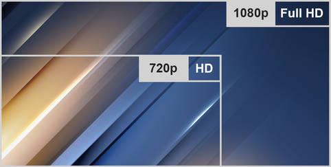 Die Auflösung: 720p oder 1080p