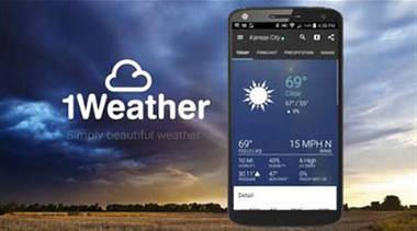 1Weather - stundengenaue Vorhersagen und Wolkenradar