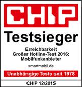 smartmobil.de - CHIP-Testsieger Hotline-Erreichbarkeit